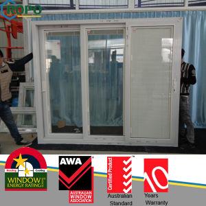 Beautiful Appearance Balcony Doors, UPVC Blinds Glass Door pictures & photos