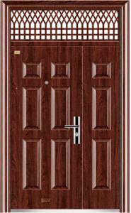 Steel Door Single Entrance Safety Door in China Export (9155) pictures & photos