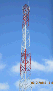 60m Self-Supported Angular Tower of Telecommunication Infrastructure