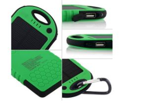 5000mAh Solar Power Bank Dual USB Port Battery Charger pictures & photos