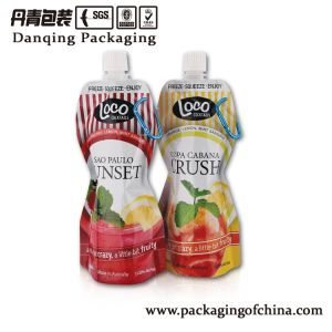 Juice Customized Printed Packaging Munufacturer Refillable Beverage Bag with Doypack Y1596 pictures & photos