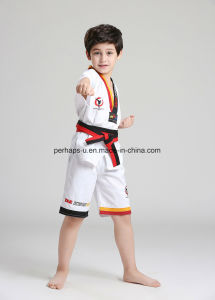 High Quality Half Sleeve Taekwondo Uniform Suit with Waistband pictures & photos