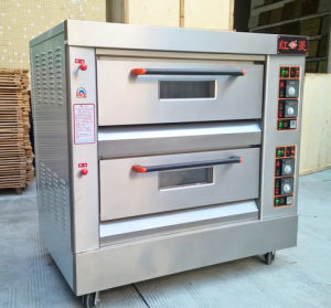 Bakery Equipment 2-Deck 4-Tray Gas Pizza Oven Baking Machine Food Machinery Food Bakery Kitchen Equipment pictures & photos