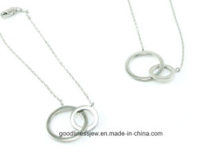 Good Quality Sterling Silver Fashion Necklace Bracelet Silver Jewelry Set S3280 pictures & photos