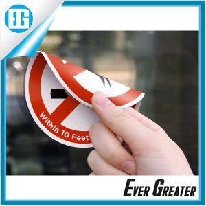 Customized Round PVC Sticker Printing/Double-Sided Window Sticker pictures & photos