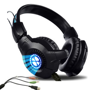 Lowest Price 3.5mm+USB Stereo Surround Sound Gaming Headphone pictures & photos