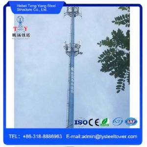 High Quality Hot Galvanized Steel Telecom Monopole GSM Tower pictures & photos