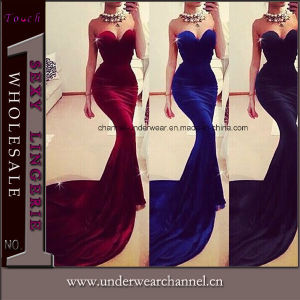 Fashion Women off-Shoulder Formal Long Prom Mermaid Evening Dress (TMKF138) pictures & photos