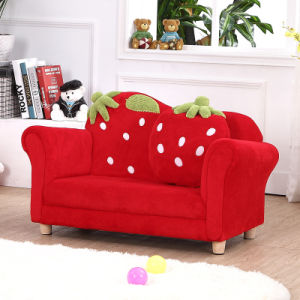China Curved Strawberry Kids Sofa Chair Baby Furniture SF169
