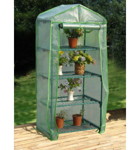 4 Tier Mini Greenhouse with PE Cover pictures & photos