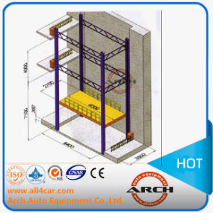 4 Column Stacker Car Parking system Lift (AAE-FP-235.3500) pictures & photos