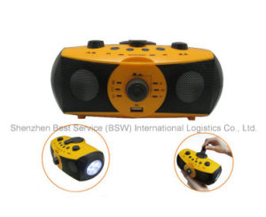 LED Manual Music Player, Emergency Rechargeable Outdoor Flashlight pictures & photos