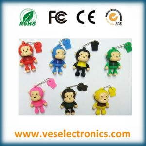 Corporate Gift USB Flash Cute Monkey Design Pendrive pictures & photos