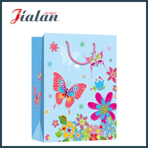 Fashion Ivory Paper Butterfly & Flowers Shopping Carrier Gift Paper Bag pictures & photos