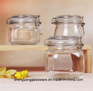 Free Sample Glass Honey Storage Jar Food Container Glass Jar with Airtight Seal pictures & photos