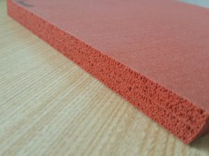 Dark Red Silicone Sponges Rubber Sheet, Silicone Foam Rubber Sheet, Special for Ironing Table pictures & photos