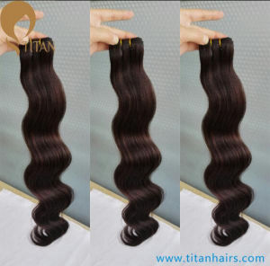 100% Black Remy Wavy Human Hair Weft pictures & photos