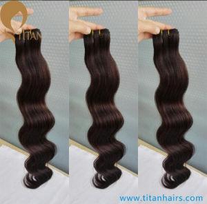 100% Black Remy Wavy Human Hair Weft