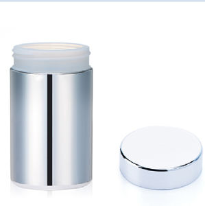 10oz/300ml Silver Chromed Plastic Supplement Container pictures & photos