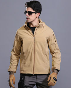 Tan Color Outdoor Tactical Waterproof Hoodie Jackets Outer Coat pictures & photos