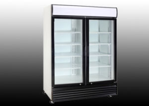 1400L Double Hinged Door Upright Beverage Refrigerator pictures & photos