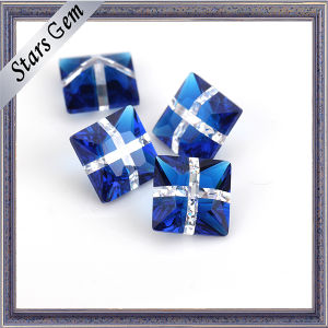 Popular Deep Blue and White Mixed Color Glass for Jewelry pictures & photos