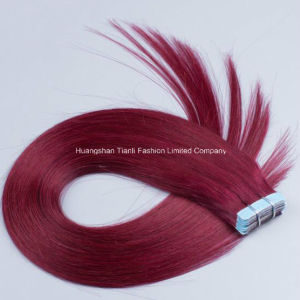 "16"" Tape Hair Extension 40PCS Full Head Double Drawn Remy Hair"