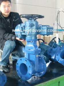 Ductile Iron Gate Valve with Electrical Actuator pictures & photos