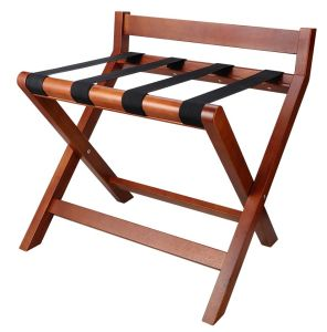 Hotel Solid Wood Luggage Rack with Back Bar pictures & photos
