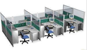 Modern Partition Panel Cheap 6 Seaters Office Cubicle Workstation (SZ-WS329) pictures & photos