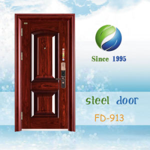 China Newest Develop and Design Single Steel Security Door (FD-913) pictures & photos