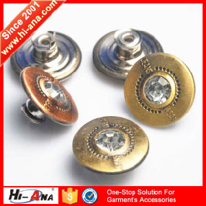 One Stop Solution for Good Price Rhinestone Buttons for Jeans pictures & photos