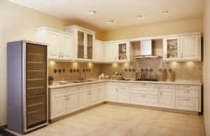 Modern Design PVC Kitchen Cabinets Vinyl Wrap Kitchen Furniture pictures & photos