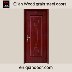 Wood Grain Veneer Heat Transfer Print Steel Door pictures & photos