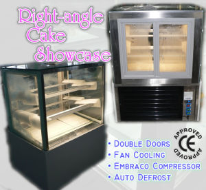 Right-Angle Cake Display Cabinet with Double Layers (ZSF Series) pictures & photos
