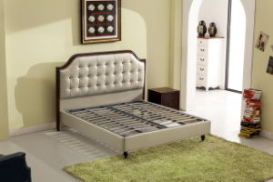 Foshan City Furniture Manufacturers Fashion Bedroom Modern Leather Soft Bed pictures & photos
