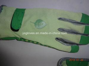 Garden Glove-PVC Dotted Glove-Work Glove-Labor Glove-Leather Glove pictures & photos