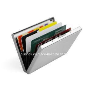 Metal Credit Card Wallet with Closure pictures & photos