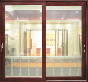 Sound and Heat Insulation Double Glazing Aluminium Sliding Doors pictures & photos