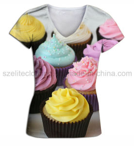 Wholesale Fashion Lady T-Shirt (ELTWTJ-318) pictures & photos