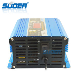Suoer Digital Display 12V 10A Portable Smart Fast Battery Charger with Ce (DC-1210A) pictures & photos