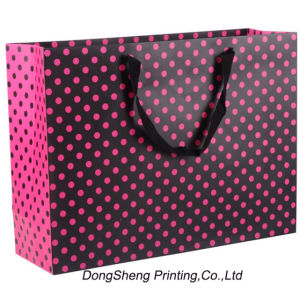 Mini DOT Coated Paper Gift Shopping Bag for Clothes.