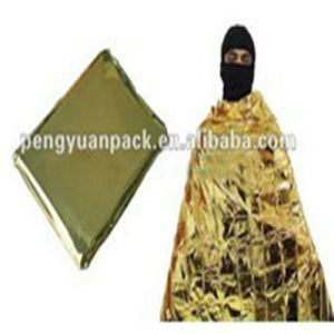 Aluminum Foil Film Emergency Blanket to Retain Body Heat pictures & photos
