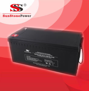 Solar Battery 12V230ah Lead Acid Battery Deep Cycle Battery pictures & photos