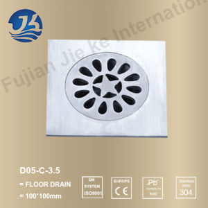 Square Stainless Steel Bathroom Hardware Floor Drain (D05-C-3.5 pictures & photos