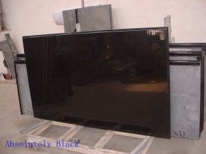 Popular Absolute Black Granite Countertop Solid Surface Kitchen Top pictures & photos