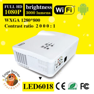 180W LED, 20000hours Life 1280*800 Support 720p/1080P 3D Projector