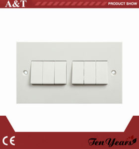 UK Wall Switch 10A 6 Gang White Range Classical Type