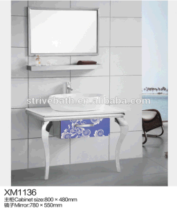 New Products 2016 Stainless Steel Bathroom Vanity Modern Cabinet pictures & photos