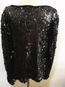 Women Fashion Clothes Acrylic Sequins Garment pictures & photos